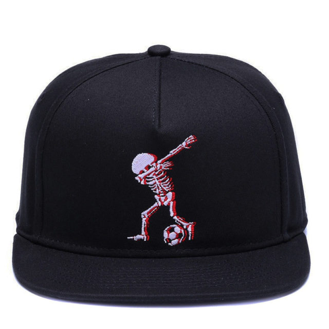 SKULL DAB EMBROIDERY BASEBALL CAPS