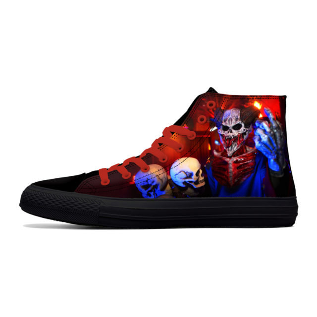 3D SKULL HIGHT TOP SHOES (7 VARIAN)