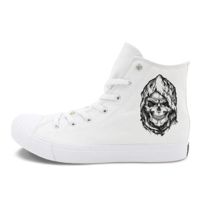 DEATH SKULL HIGH TOP SHOES (2 VARIAN)