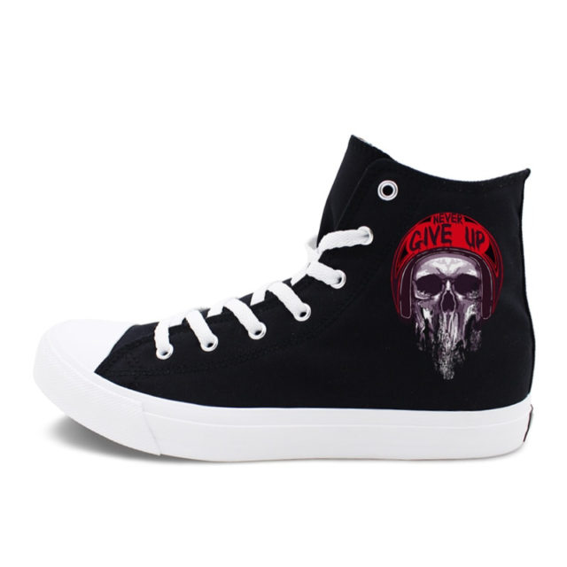 SKULL THEMED HIGH TOP SHOES (12 VARIAN)