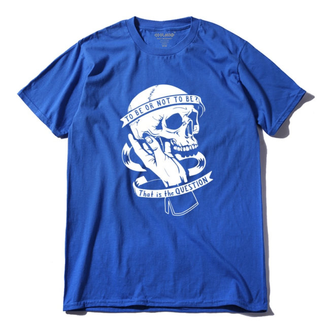 TO BE OR NOT TO BE SKULL T-SHIRT (8 VARIAN)