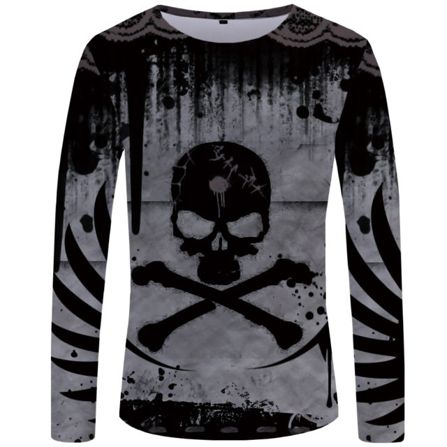 3D SKULL THEMED LONG SLEEVE T-SHIRT II