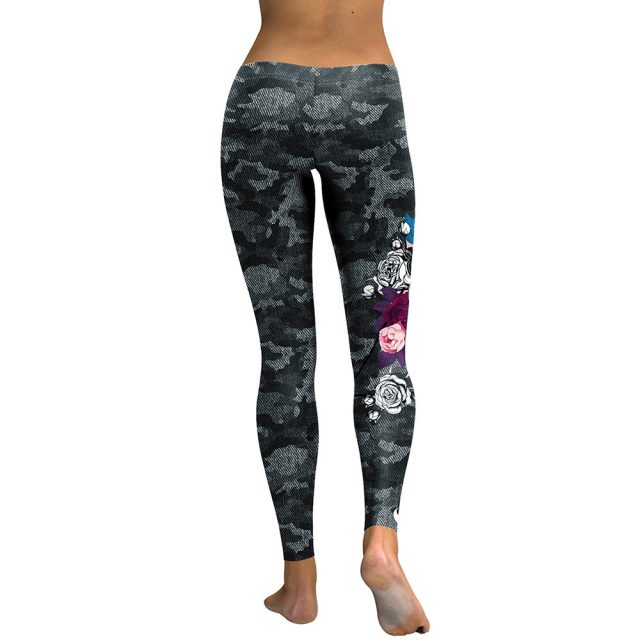 New Arrival Leggings Women Skull Head 3D Printed Camouflage Legging Workout Leggins Slim Elastic Plus Size Pants Legins