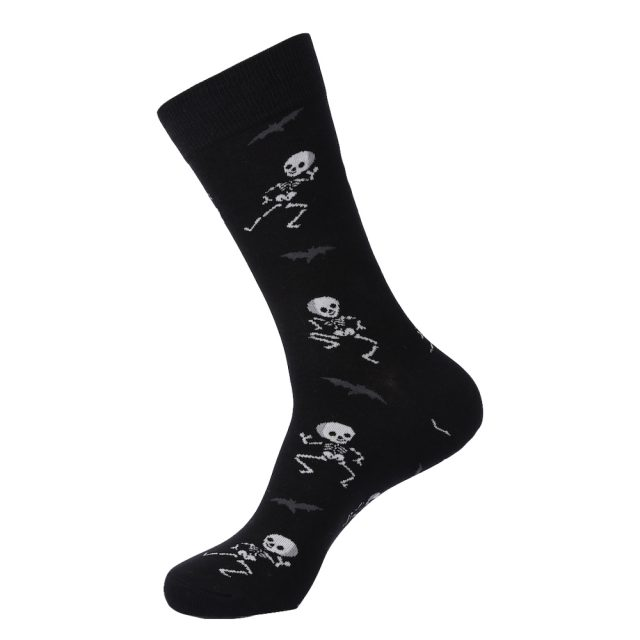VPM New Autumn&Winter Colorful Cotton Men's Long Socks Harajuku Hip hop Funny Skull Cool Dress Socks for Wedding Christmas Gift