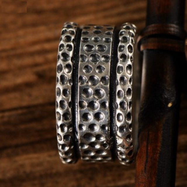 BOCAI S925 Sterling Silver rings for men domineering snake pattern Skull Ring fashionable male  hip hop Thai silver ring