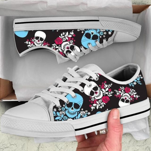 Women Shoes Mexican Sugar Skull Print Leisure Breathable Vulcanized Shoes for Ladies Classic Woman Low Top Sneakers
