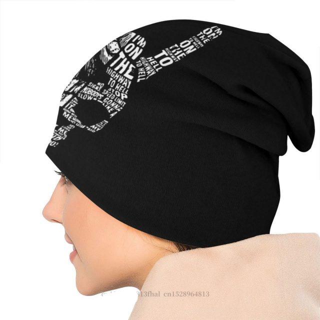 Heavy Metal 1960s Punk Rock Music Beanie Hats Skull Art Knit Hat Bonnet High Quality Skullies Beanies Caps Men Women's Earmuffs