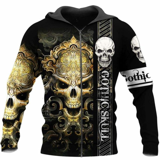 Newest Ghost Gothic Skull Funny Harajuku Pullover NewFashion Streetwear 3DPrint Zip/Hoodies/Sweatshirts/Jacket S17