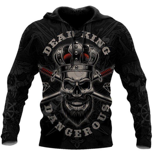 Satan Devil Ghost Gothic Skull Funny Casual Pullover NewFashion Streetwear 3DPrint Men/Women Jacket Zip Hoodies 16